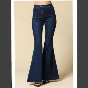 Denim - Dark denim jean bell bottoms. Brand NWOT.
